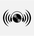 icon listening to music cd vector image vector image