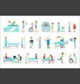 injured and sick patients in the hospital vector image