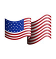 isolated american flag on a white background vector image