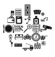 keys icons set simple style vector image vector image