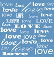 lettering design love pattern words hearts design vector image