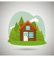log cabin design vector image vector image
