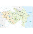 map caucasus states armenia and azerbaijan