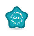 merry christmas sale badge vector image vector image