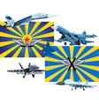 Military and Air Forces of Russia vector image