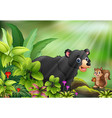 nature scene with wild animals cartoon vector image vector image