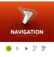 Navigation icon in different style vector image vector image