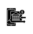 online banking black icon sign on isolated vector image vector image