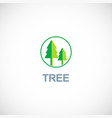 pine green tree logo vector image vector image