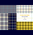 plaid pattern collection vector image vector image