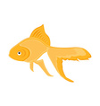 realistic goldfish vector image vector image