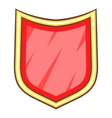 Red blank shield icon cartoon style vector image vector image