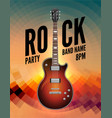 rock music live concert poster flyer rock party vector image vector image