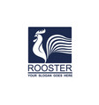 rooster icon design vector image vector image