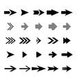 set arrow icon black arrows collection vector image