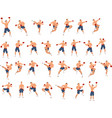set mma fighter couple exercising mma art vector image