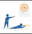 shooting from collection sports vector image