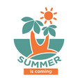 summer is coming logo icon isolated on white vector image vector image