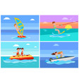summertime activities set vector image vector image