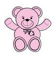 teddy bear toy icon image vector image