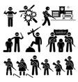 terrorist terrorism suicide bomber stick figure vector image vector image