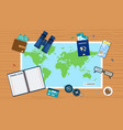 travel planning concept vector image