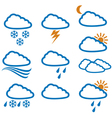 weather icons - buttons vector image vector image