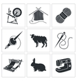 Wool knitting Icons vector image vector image