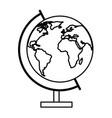 world earth globe vector image vector image