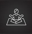 yoga asan thin line on black background vector image