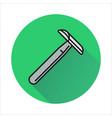 razor icon on circle background