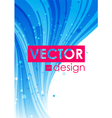 Blue abstract curve background vector image