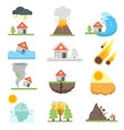 Home insurance business set vector image