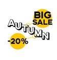 20 percent discount big autumn sale vector image vector image
