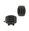 a barrels of wine or beer icons vector image vector image