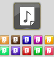 Audio MP3 file icon sign Set with eleven colored vector image vector image