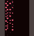banner with garlands for valentine s day vector image vector image