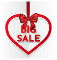big sale bright holiday heart frame banner vector image vector image