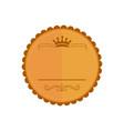 blank bronze circular vintage badge emblem graphic vector image