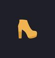 boot computer symbol vector image