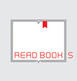 Border with inscription - Read Books Outline open vector image