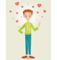Boy in Love vector image vector image