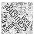 business entrepreneur ideas trends text background vector image vector image