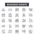 business events line icons signs set vector image vector image