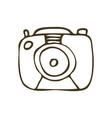 camera doodle vector image