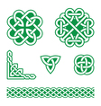 Celtic knots green patterns vector image vector image