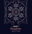 christmas and new year copper outline snow card vector image vector image