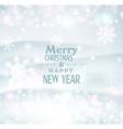 Christmas background with snowflakes blurred vector image