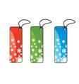 Christmas present tags vector image vector image