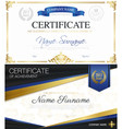 Classic Elegant Certificates Collection vector image vector image